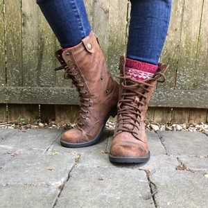 Fall and Winter Lace Up Boots